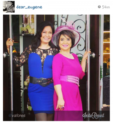 Maricel Soriano and Eugene Domingo Team Up for Star Cinema's Momzillas, Showing on September 18, 2013 in cinemas nationwide. Photo Credit: @Dear_Eugene on Instagram