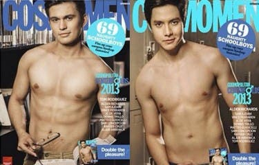 Alden Richards and Tom Rodriguez lead the Cosmo Centerfolds for this year as 'Maria Mercedes' star Jessy Mendiola poses as the covergirl. Photo credits: Cosmo Mag's Instagram account