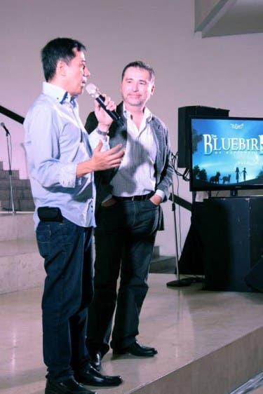 Trumpets president, Audie Gemora and Director Jaime del Mundo sharing how The Bluebird of Happiness began.