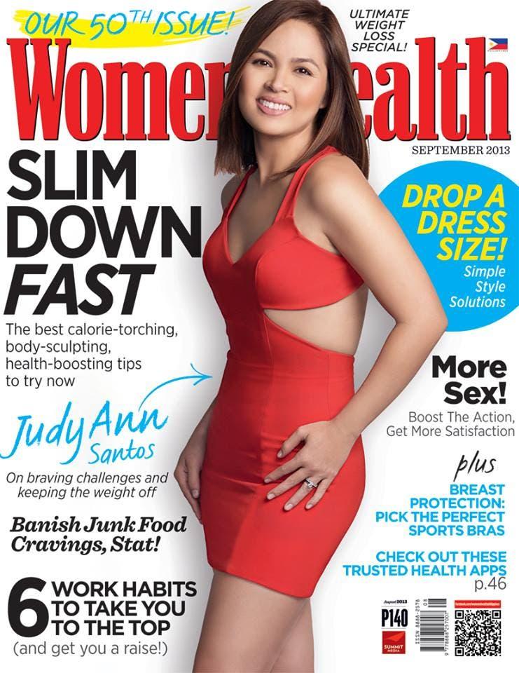 Judy Ann Santos Womens Health September 2013 Cover Starmometer