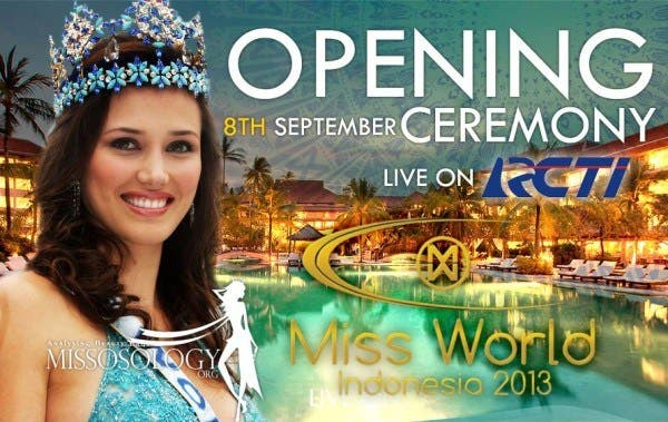 Miss World 2013 Live Video Streaming Opening Ceremony. Photo from Missosology.