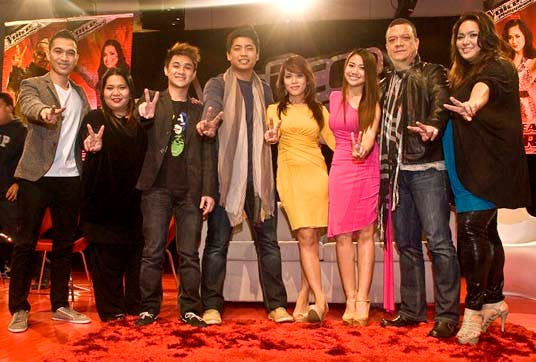 The Top 8 artists of The Voice of the Philippines Thor, Janice, Paolo, Myk, Klarisse, Morissette, Mitoy, Radha