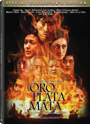oro plata mata DVD cover
