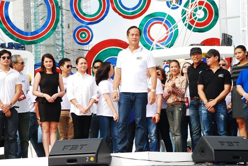 ABS-CBN chairman Eugenio 'Gabby' Lopez III leads the Grand Kapamilya Weekend opening ceremony