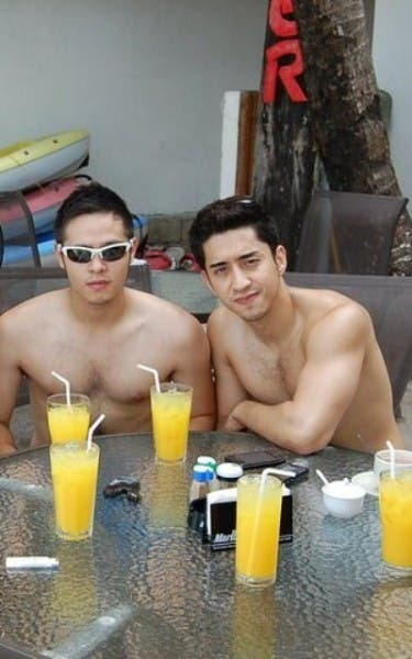 Martin Del Rosario with rumored boyfriend, commercial model Zuher Bautista.