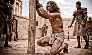 Jesus played by Diogo Morgado undergoes a brutal trial -photo by Casey Crafford