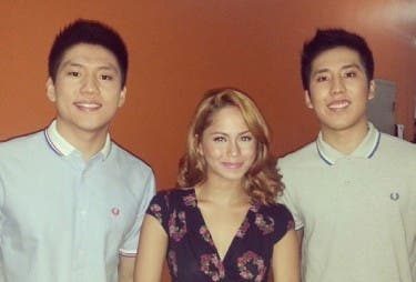 jessy with teng bros in Krist TV taping earlier this year
