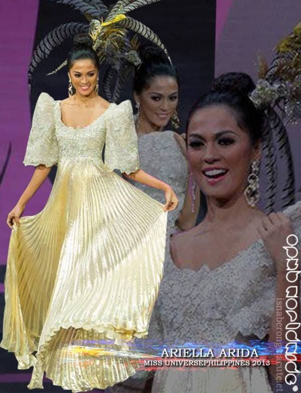 Ariella Arida Miss Universe Philippines National Costume – Collage by OPMB Worldwide