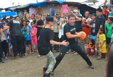 Justin Plays Basketball