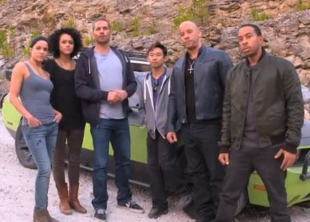 Paul Walker with FF gang