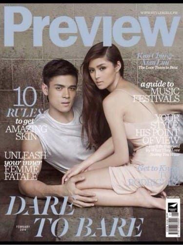 Kim Chiu and Xian Lim – Preview February 2014 Cover