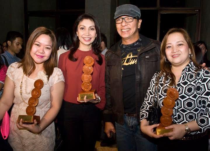 DZMM's Shally Tablada, Marah Capuyan, Ted Failon, Nannette Quong at the UPLB Gandingan Awards