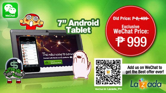 Wechat and lazada join forces offer special tablet deal for Number one online shopping site