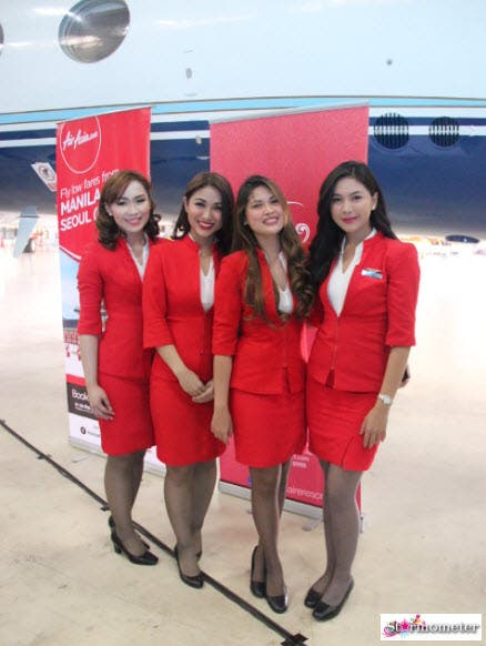 Solaire Teams Up with AirAsia for PHs First Corporate  : AirAsia Flight Stewards from www.starmometer.com size 438 x 582 jpeg 51kB