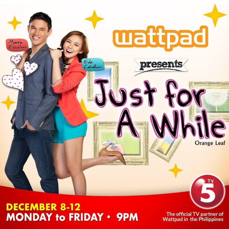 Eula caballero teams up with martin escudero in wattpad presents just for a while stopboris Images