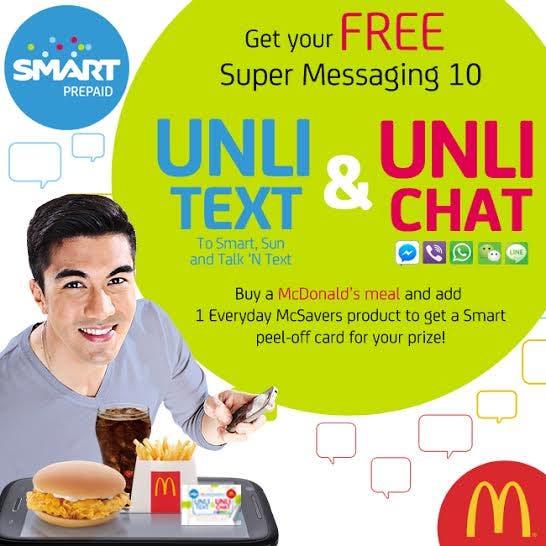 Get Free Smart Super Messaging 10 Coupon with McDonald's