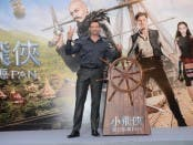 """Hugh Jackman at Hong Kong junket for Warner Bros. Pictures' and RatPac-Dune Entertainment 's action adventure """"PAN,"""" a Warner Bros. Pictures release. Photo courtesy of Warner Bros. Pictures."""