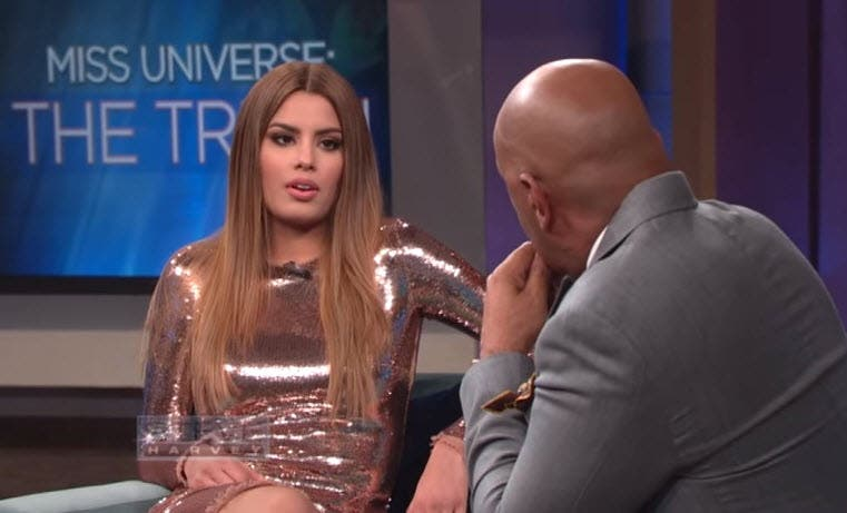 steve harvey and miss colombia meet