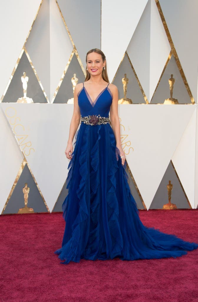 Oscar®-nominee, Brie Larson, arrives at The 88th Oscars® at the Dolby® Theatre in Hollywood, CA on Sunday, February 28, 2016.