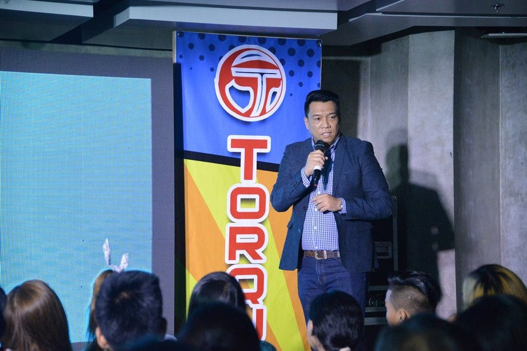 Mr. Ian Garcia,Torque Mobile Business Unit Sales Head giving a walk thru of the products presented at the launch of Torque Ego Series 1.0