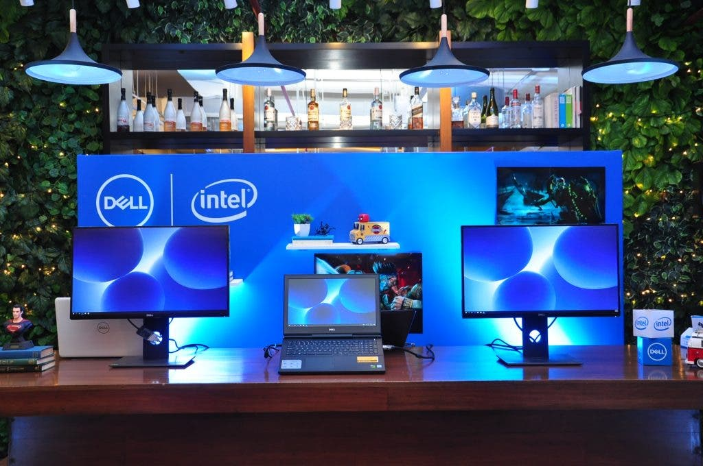 dell-gaming-laptop-and-monitors