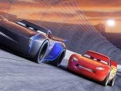 """NEXT-GEN TAKES THE LEAD — Jackson Storm (voice of Armie Hammer), a frontrunner in the next generation of racers, posts speeds that even Lightning McQueen (voice of Owen Wilson) hasn't seen.  """"Cars 3"""" is in theaters June 16, 2017. ©2016 Disney•Pixar. All Rights Reserved."""