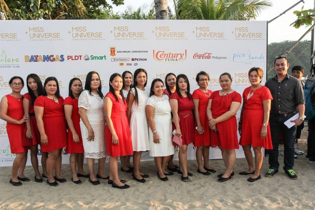 """""""It is a really proud moment for us. For the candidates, and even the universe, to see our creations,"""" said Marlene Nival, one of the 14 Coca-Cola 5by20 artisan women who personally gave their handcrafted neckpieces to the candidates of the 65th Miss Universe Pageant. The women are joined by James Debauden, project coordinator of the Coca-Cola 5by20 Artisan Women of Tondo."""