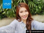 Teen actress Loisa Andalio takes a selfie with the Vivo V5 Plus perfect selfie phone, and uses the bokeh effect.
