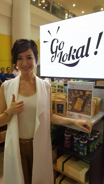 Maricar Reyes-Poon graces the opening of the first Go Lokal! Store.