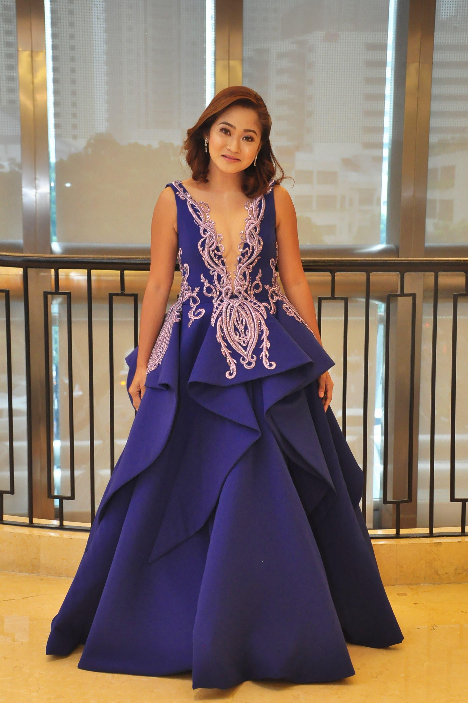 Indigo Evening Dress from Contrast Category 2