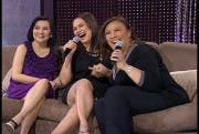Sharon Cuneta with Judy Ann Santos and Gladys Reyes on Sharon this Sunday July 4_